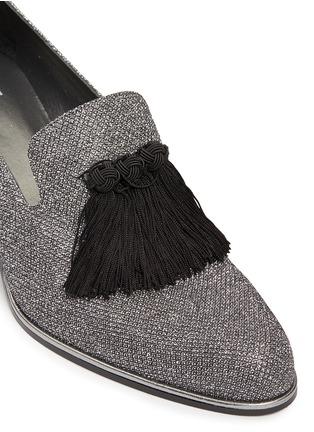 Detail View - Click To Enlarge - Stuart Weitzman - Razmataz' tassel glitter loafers