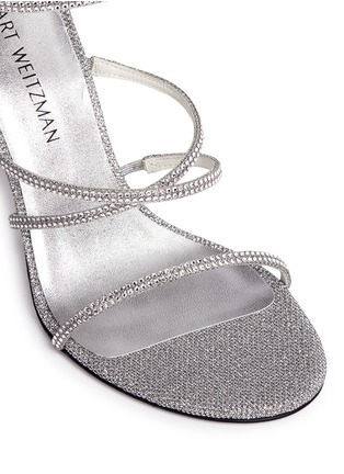 Detail View - Click To Enlarge - Stuart Weitzman - 'Galaxy' Swarovski crystal strap lamé sandals