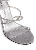 'Galaxy' Swarovski crystal strap lamé sandals