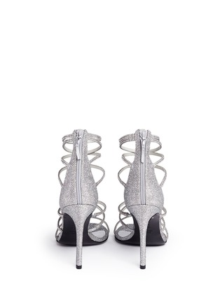 Back View - Click To Enlarge - Stuart Weitzman - 'Galaxy' Swarovski crystal strap lamé sandals