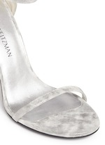'Nudist Song' clouded marble print leather sandals