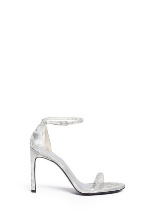 Stuart Weitzman-'Nudist Song' clouded marble print leather sandals