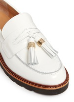'Manila' tassel tie spazzolato leather loafers
