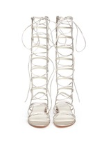 'Sparta' knee high leather gladiator sandals