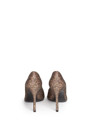 Back View - Click To Enlarge - Stuart Weitzman - 'Heist' leopard print metallic pumps