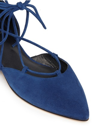 Detail View - Click To Enlarge - Stuart Weitzman - 'Gilligan' lace-up d'Orsay flats