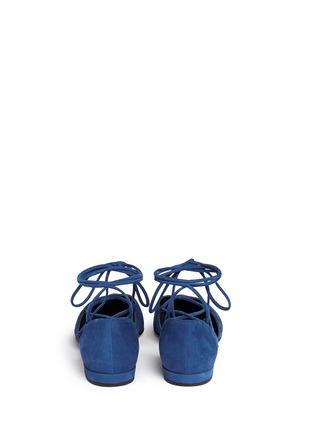 Stuart Weitzman-'Gilligan' lace-up d'Orsay flats