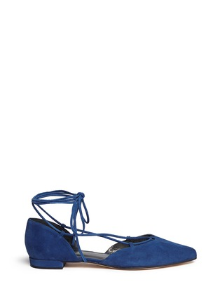 Main View - Click To Enlarge - Stuart Weitzman - 'Gilligan' lace-up d'Orsay flats