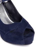 'Turnover' suede wedge platform sandals
