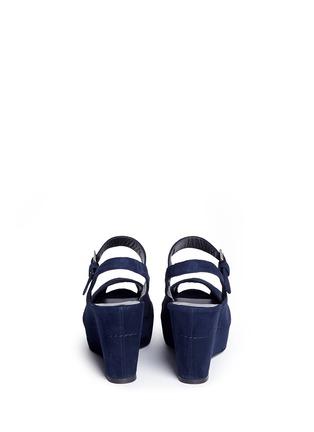 Stuart Weitzman-'Turnover' suede wedge platform sandals