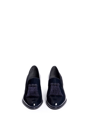 Front View - Click To Enlarge - Stuart Weitzman - 'Razmataz' tassel patent leather loafers