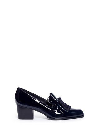 Main View - Click To Enlarge - Stuart Weitzman - 'Razmataz' tassel patent leather loafers