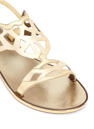 Detail View - Click To Enlarge - Stuart Weitzman - 'Gel Fisher' lattice cutout jelly sandals