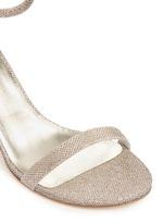 Ankle strap lamé glitter sandals