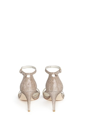 Back View - Click To Enlarge - Stuart Weitzman - Ankle strap lamé glitter sandals