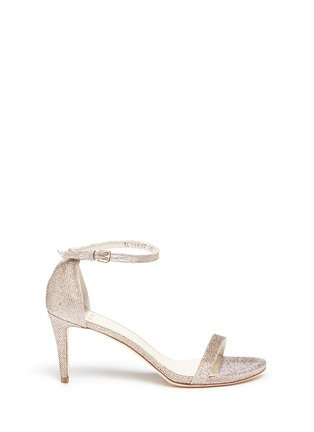 Main View - Click To Enlarge - Stuart Weitzman - Ankle strap lamé glitter sandals