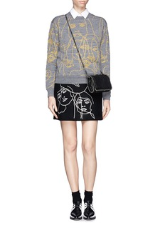 STELLA MCCARTNEY Quilted face embroider sweater
