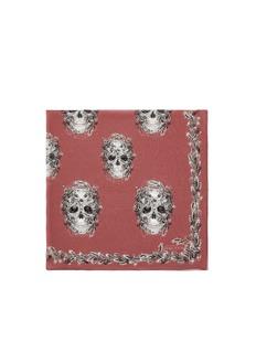 ALEXANDER MCQUEENAcorn and skull print silk chiffon