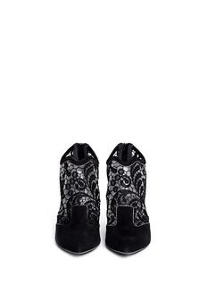 NICHOLAS KIRKWOODLace embroidery suede booties