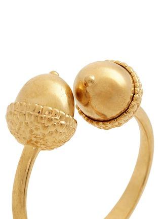 Detail View - Click To Enlarge - Alexander McQueen - Double acorn brass bracelet