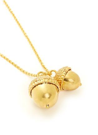 Detail View - Click To Enlarge - Alexander McQueen - Double acorn pendant necklace