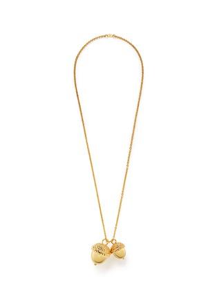 Main View - Click To Enlarge - Alexander McQueen - Double acorn pendant necklace