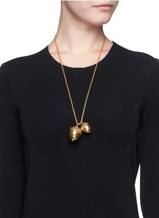 Figure View - Click To Enlarge - Alexander McQueen - Double acorn pendant necklace