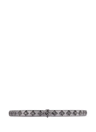 Main View - Click To Enlarge - Shamballa Jewels - 'SoS' diamond 18k gold bangle