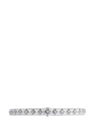 Main View - Click To Enlarge - Shamballa Jewels - 'SoS' diamond 18k white gold bangle
