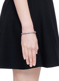 Shamballa Jewels 'SoS' diamond 18k white gold bangle