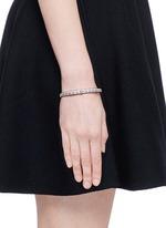 'SoS' diamond 18k white gold bangle