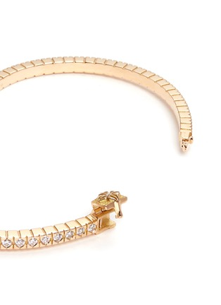 Shamballa Jewels - 'Alliance' diamond 18k yellow gold bangle