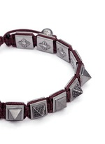 'Pyramid' black diamond 18k gold bracelet
