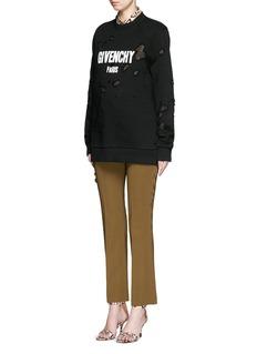 GIVENCHYDistressed logo print sweatshirt