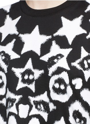 Detail View - Click To Enlarge - Givenchy - Star jaguar print oversize T-shirt