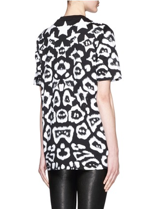 Back View - Click To Enlarge - Givenchy - Star jaguar print oversize T-shirt