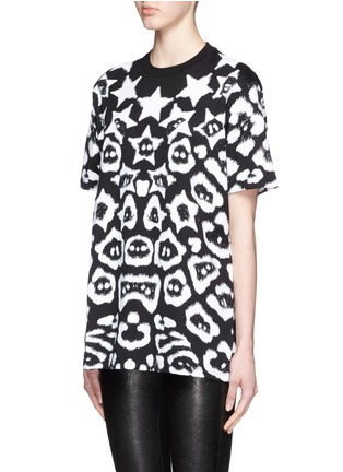 Front View - Click To Enlarge - Givenchy - Star jaguar print oversize T-shirt