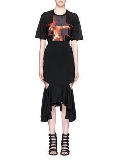 GIVENCHY 'Fauno' cross print cotton T-shirt
