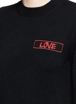 'Love' embroidery patch cashmere sweater