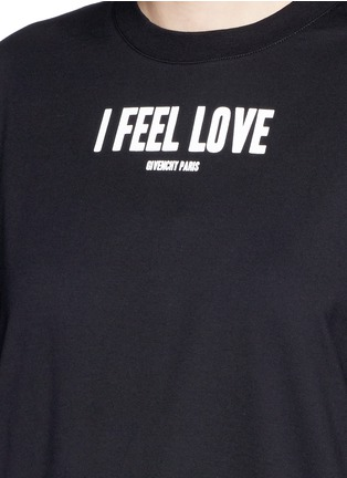 Givenchy - 'I Feel Love' slogan T-shirt