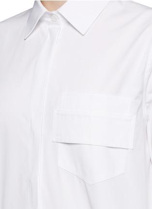 细节 - 点击放大 - GIVENCHY - 搭带胸袋纯棉府绸衬衫