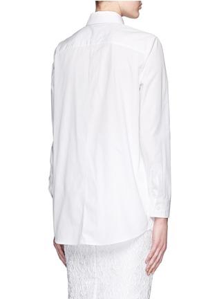 背面 - 点击放大 - GIVENCHY - 搭带胸袋纯棉府绸衬衫