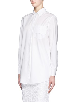 正面 -点击放大 - GIVENCHY - 搭带胸袋纯棉府绸衬衫