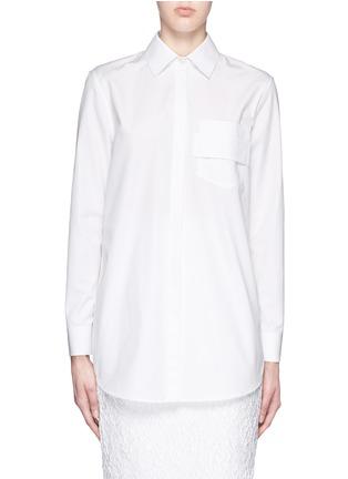 首图 - 点击放大 - GIVENCHY - 搭带胸袋纯棉府绸衬衫