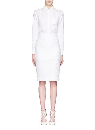 Givenchy-Strap pocket long cotton poplin shirt