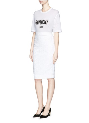 Figure View - Click To Enlarge - Givenchy Beauty - Slogan distressed jersey T-shirt