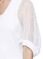 Bell sleeve mesh knit sweater