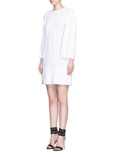 GIVENCHYCutout sleeve stretch cady dress