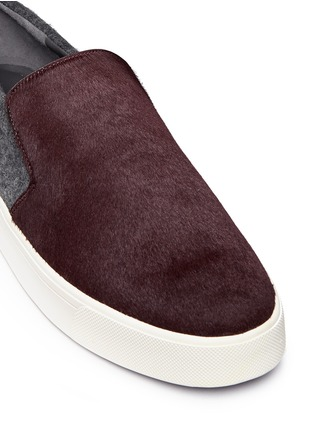 Detail View - Click To Enlarge - Vince - 'Brea' calfhair felted wool combo skate slip-ons