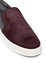 'Brea' calfhair felted wool combo skate slip-ons